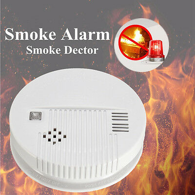 3x Wireless Smoke Detector Home Security Fire Alarm Sensor System Cordless White