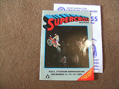 1989 NEC Stadium Supercross Masters Official Programme & Bad Boy Poster