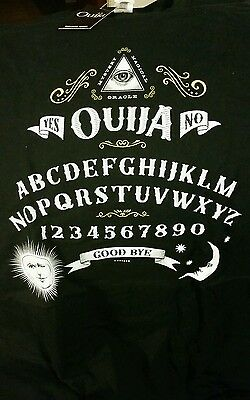 OUIJA, XL T Shirt - Horror Block Exclusive. Scary movie, Hasbro Nerd Black Tee