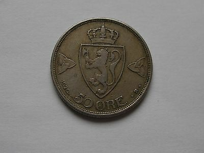 Norway  50 Ore Coin 1920.