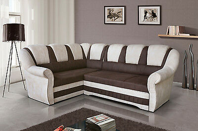 Brand New Fabric Corner Sofa Bed Lord Ii - Storage Box Left / Right Hand Side