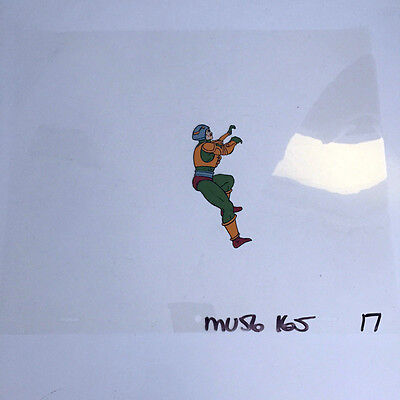 Retro 80's Cartoon He-Man Hand Painted Animation Production Cel Cell Man at Arms