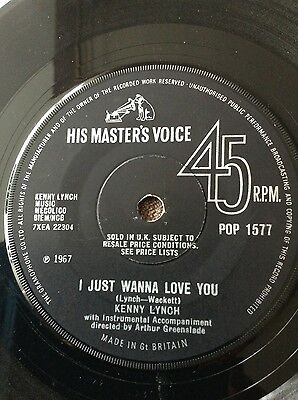 Northern Soul Records, Kenny Lynch, I just wanna love you.  Its too late