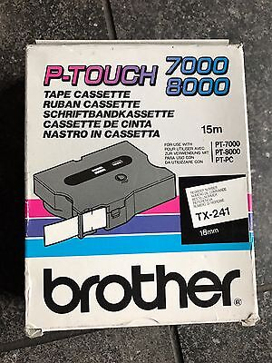 Brother P-Touch 7000 8000 TX-241 18mm
