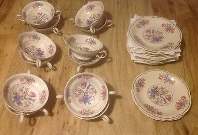 10 Continental Ivory - Rosenthal Cream Soup Bowls With Under Tray