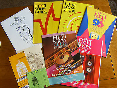 Old Official Guides To International Hi-Fi Show