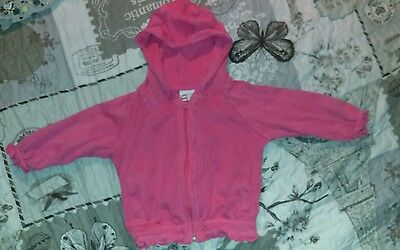 Baby girl pink hoodie 9-12 months