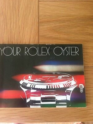 Genuine Rolex booklet vintage Your Rolex Oyster instruction 1982