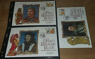 Great Britian First Day Covers -  Heraldic Beasts