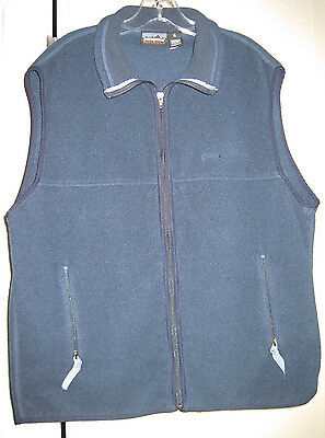 Patagonia Synchilla Men's Vest X-Large Regular Fit Navy Blue Fleece Excellent
