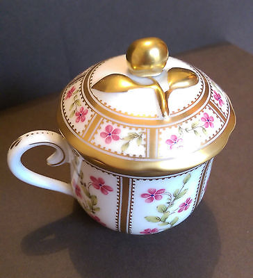 Ancienne Manufacture Royale Limoges - A Chocolate Cup in the 'Roseraie' pattern