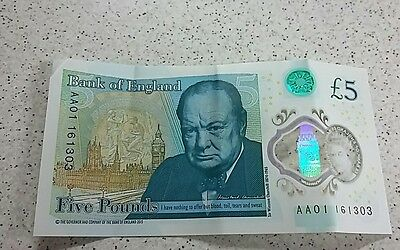 new five pound note AA01