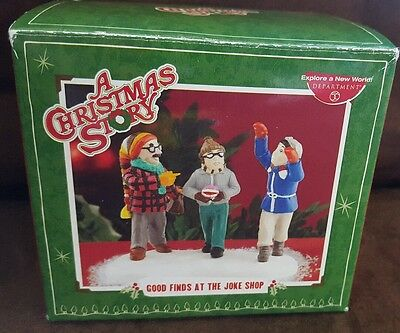 Dept 56 A Christmas Story Good Finds At The Joke Shop #809484 NIB