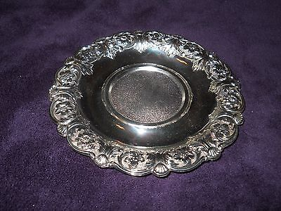 "VINTAGE ~ Holiday Imports ~""TARNISH PROTECTED"" ~ 6 3/4""  Silverplate Dish"