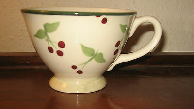 Laura Ashley Pedestal Mug In The Hand-Painted  'berries' Pattern. Exc. Condition