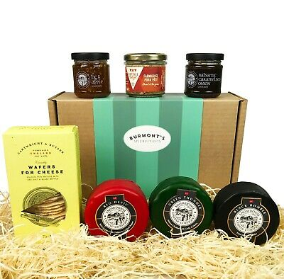 Snowdonia Cheese Company Gift Hamper - 3 x 200g Truckles, Chutney, Pate & Wafers