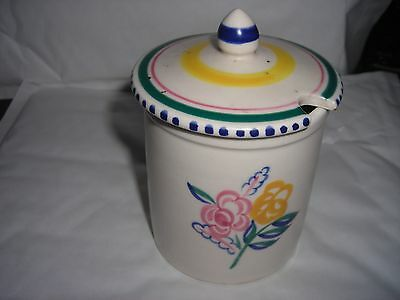 Poole Pottery Jam Pot with top 10cm Tall