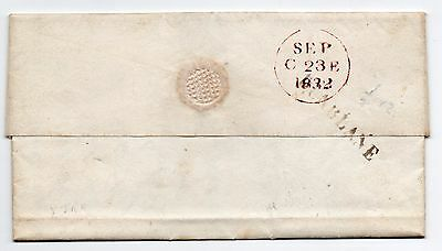 1832 Scots full entire letter with straight line Dunblane pmk to Edinburgh.