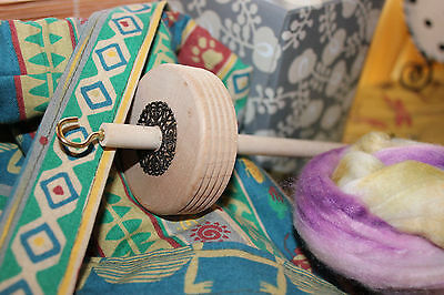 Handmade Drop Spindle/Bag/Fiber Set MUST SEE!