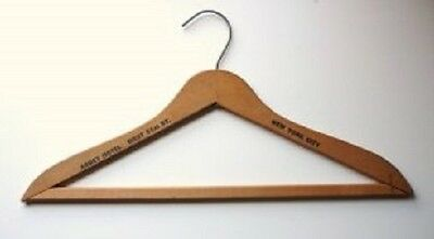 Vintage Wood Abbey Hotel New York City Clothes Coat Hanger