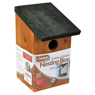 Bn Traditional Wooden Nesting Box Small Bird Nest New House Free Postage