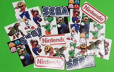 Gaming Stickers - Retro Video Game Sticker Set  (20)