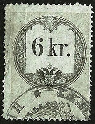 AUSTRIA 1858 VF Used The general revenue second issue stamp 6kr. St.# 3
