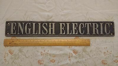 English Electric Builders Plate from BR Class 40 EE Type 4