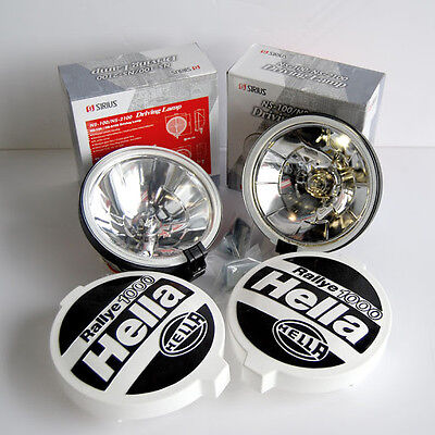 PACK 2 FAROS Largo Alcance TIPO HELLA RALLY 1000 190 MM + 2 TAPAS HELLA