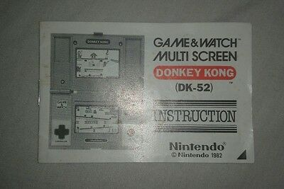 game and watch Nintendo DONKEY KONG instructions instruction booklet only