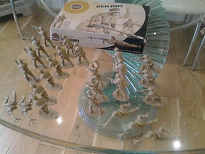 Airfix 1.32 scale Afrika Korps with Box.Plus 12 loose 8th Army