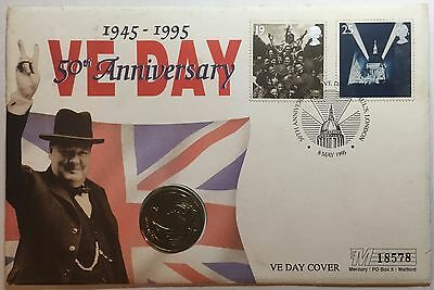 1995 50th Anniversary VE Day Coin Cover