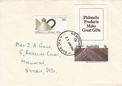 B 245 Newport Vic; 42c rate; paid by two booklet stamps; great cds