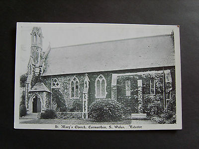 Carmarthenshire: Exterior Of St Mary's Church, Carmarthen - Printed - Unused