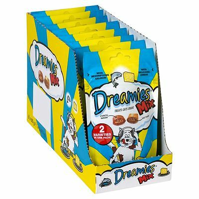 Dreamies Salmon & Cheese Mix 60g (Pack of 8)