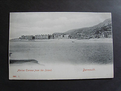 Merionethshire: Marine Terrace, Barmouth From The Island - Printed - Unused