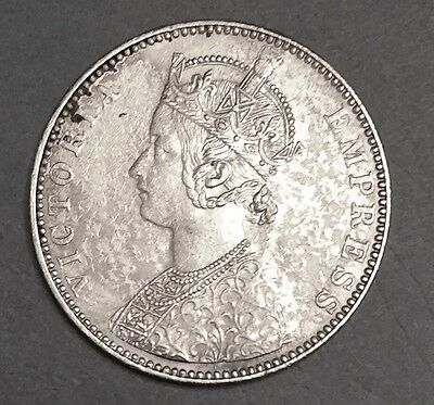 1893 B One Rupee British India Bust Type C Silver