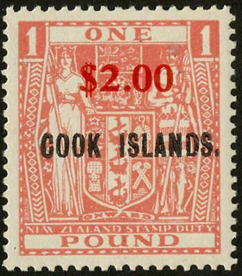 Cook Is SG 219 1967 $2 on £1 pink