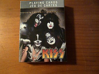 Kiss Gene Paul Peter Ace Illustrated Poker Size Playing Cards, MINT SEALED