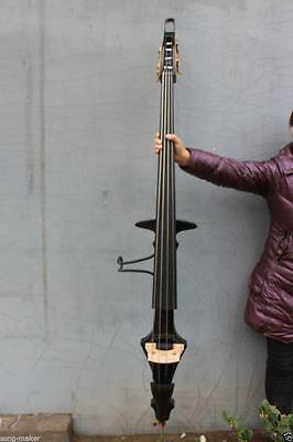 New 3/4 Electric Parted Upright Double Bass Finish silent Solid wood Black