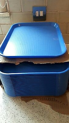 Plastic new catering trays x 21