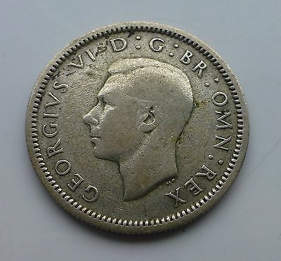1937 George VI Silver Sixpence