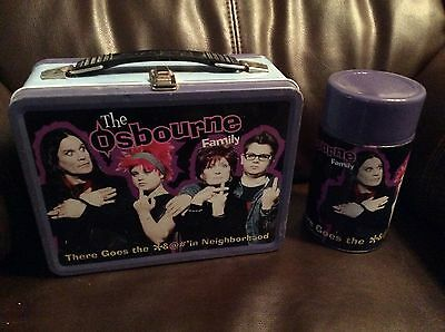 Vintage Tin Lunch Box The Osbourne Family There Goes The Neighborhood Thermos