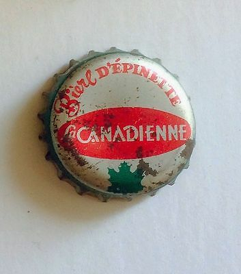 BIERE D' EPINETTE Spruce beer SODA cork lined crown cap can CANADA bottle QUEBEC