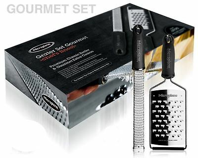 Microplane Gourmet Grater Set, Black Zester and Extra Course Grater