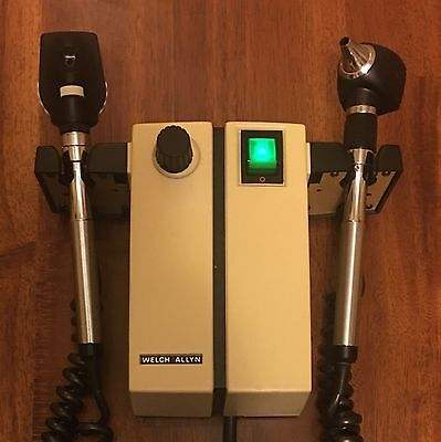 Welch Allyn 74710 Diagnostic Set W/ Otoscope & Ophthalmoscope Heads NEW BULBS!
