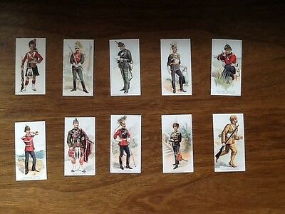 MILITARY UNIFORMS 1900 (Set of 25 cards) Includes Indian Regiments.
