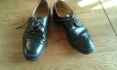 loake gents leather shoes, size 8, black, good used condition