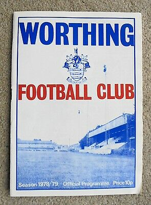 16th Sep 1978 WORTHING v ALTON TOWN f.a. cup