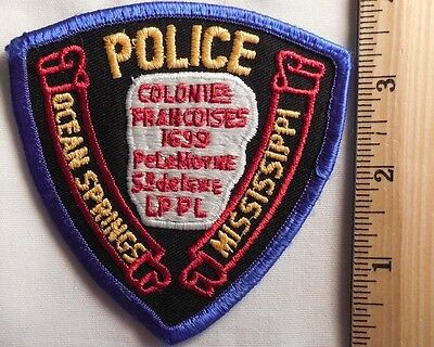 Ocean Springs Mississippi Police Patch (Highway Patrol, Sheriff, Ems)